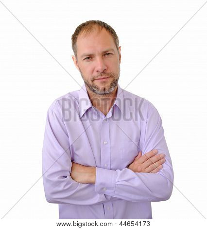 Incredulous Men Isolated On The White Background