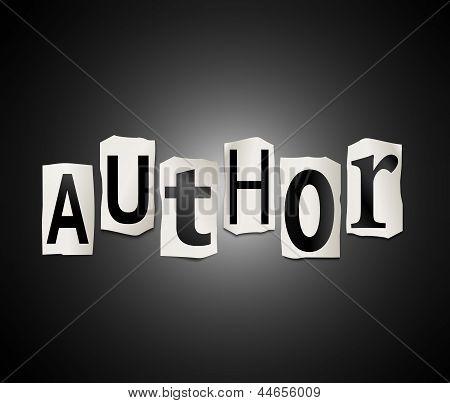 Author Concept.
