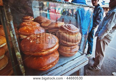 Pastry on the street of Darjeeling