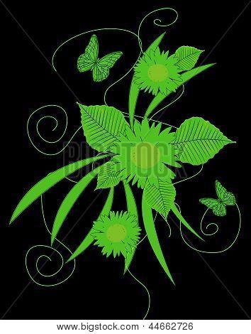 reason florealecon green butterflies