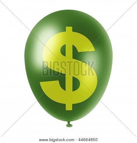 Green Dollar Ballon