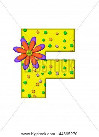 Alphabet Zany Dots F