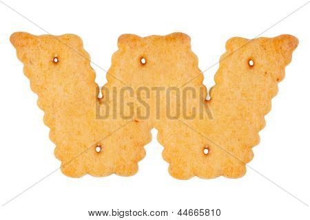 "Cookies In The Form Of The Letter ""w"""