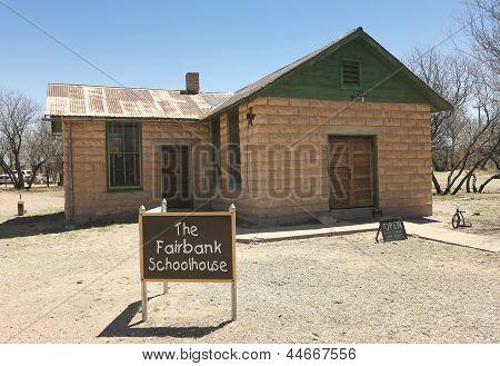 A Fairbank, Arizona, Ghost Town Schoolhouse Shot