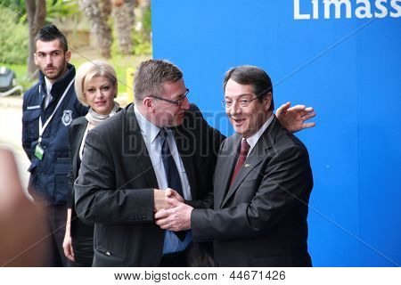 Steven Vanackere and Nicos Anastasiades