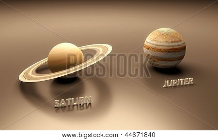 Planets Saturn And Jupiter