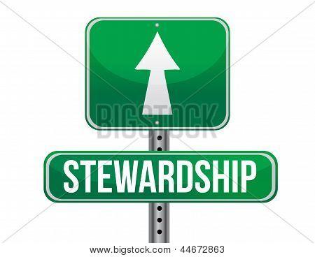 Stewardship Road Sign Illustration Design