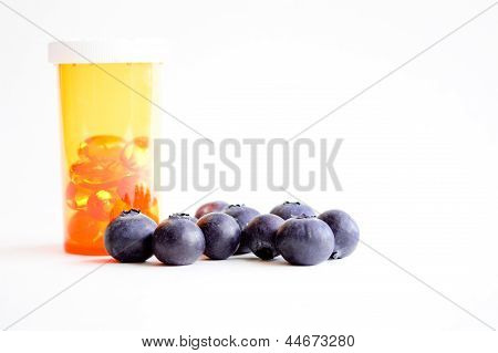 Alternative health, pills versus blueberries