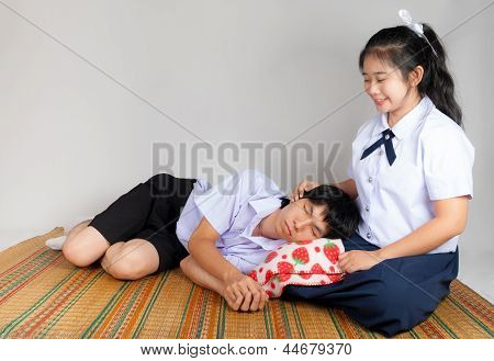 Lovers Of Asian Thai High School Students