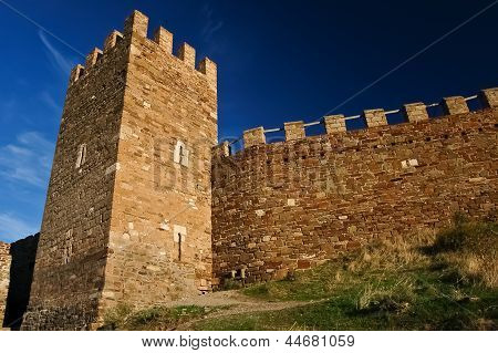 Ancient  Genoese fortress in Sudak Ukraine