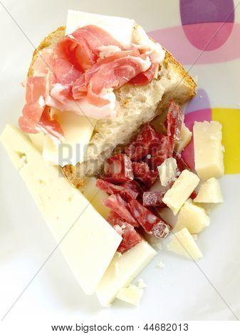 Snack Pancetta, Formaggio E Salame