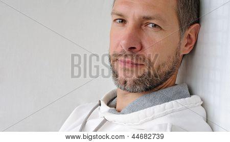 Portrait Of Dreamy Man