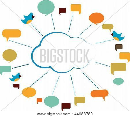 Communication Cloud With Speech Bubbles
