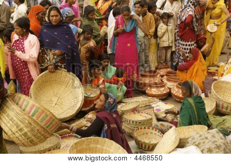 Crowded Indian Market