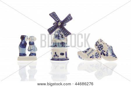Typical Dutch Souvenirs On A Row