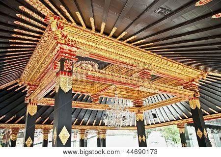 The tradition Javanese ceiling in Yogyakarta, Java, Indonesia.