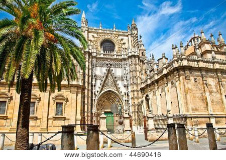 Cathedral of Saint Mary  (Catedral de Santa Maria de la Sede) in Seville, Spain.