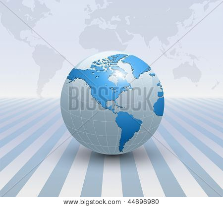Abstract business background soft blue, 3D vector.