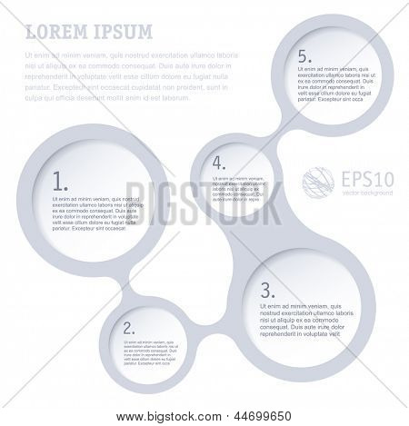Simply infographic step by step grey vector  template