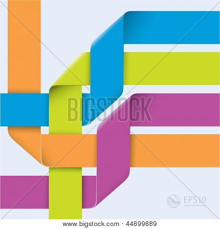 Infographic ribbon knot template. Vector
