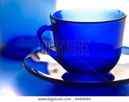 Blue Transparent Cup