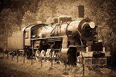 picture of loco  - Old Steam Locomotive in siberia  - JPG