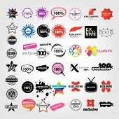 stock photo of exclusive  - vector the collection of logos signs pointers - JPG