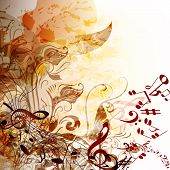 Music Grunge Futuristic Background For Your Design