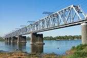pic of novosibirsk  - the Trans Siberian railway bridge over the Ob river at Novosibirsk Siberia Russia - JPG