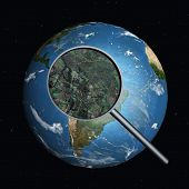 image of geosphere  - 3 D Computer Render of the Earth - JPG