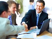 stock photo of joining hands  - Business people shaking hands - JPG