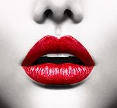 stock photo of vivid  - Sexy Lips - JPG