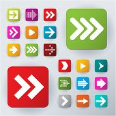 picture of red back  - Arrow icon set - JPG