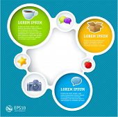 stock photo of circle shaped  - Website infographic loop template - JPG