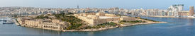 image of rn  - A panoramic view of Manoel Island and the recently restored Fort carrying the same name - JPG