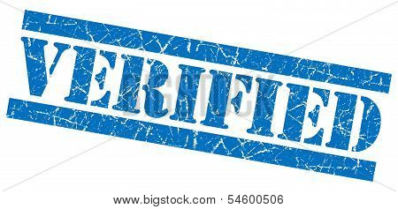 Verified Blue Grunge Stamp