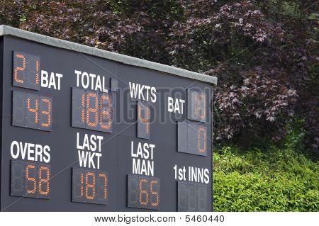 Marcador electrónico de Cricket