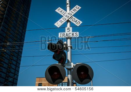 San Diego Railroad Crossing Sign