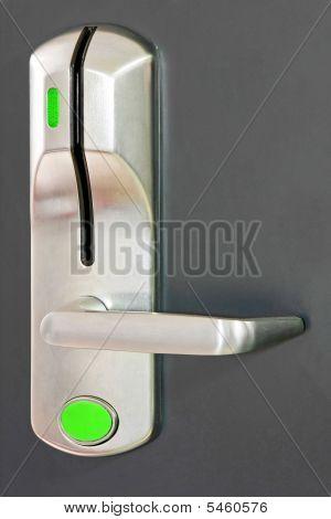 Green Unlocked Door