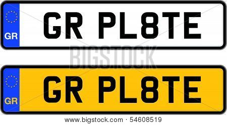 greece number plate