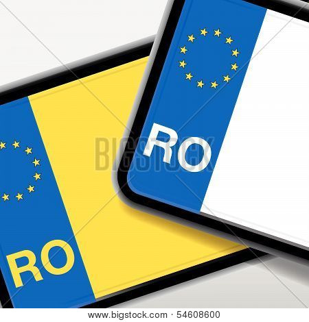 romania number plate
