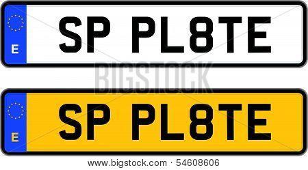 spain number plate