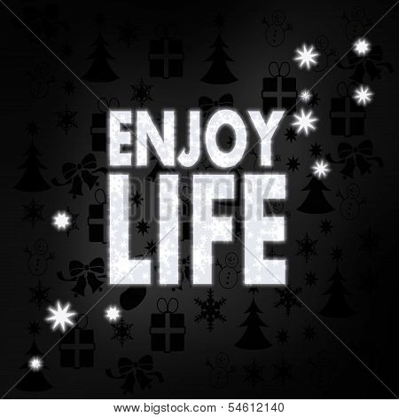 Noble Enjoy Life Label With Stars