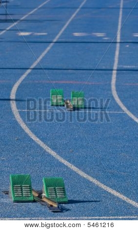 Starting Blocks On Track