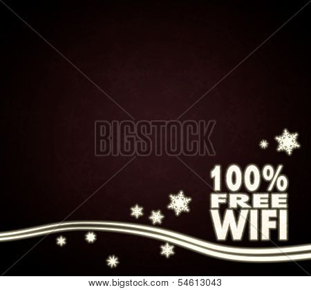 A 100 Percent Free Wifi Design Red Christmas Background