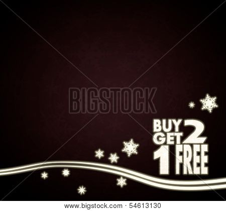 A Buy Two Get One Free Template Red Christmas Background