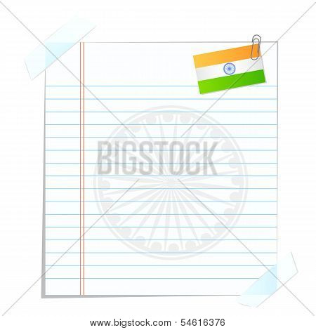 Page with Indian Flag
