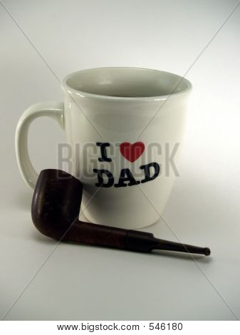 I Love Dad Cup  & Pipe