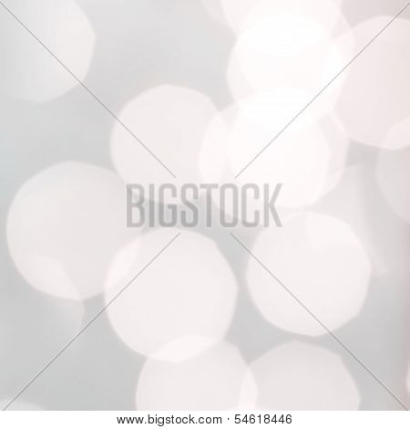 Lights On Grey Background. Abstract Natural Blur Defocussed Background With Sparkles, Soft Focus, Gr