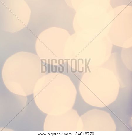Golden Lights On Grey Background. Abstract Natural Blur Defocussed Background With Sparkles, Soft Fo
